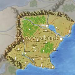 Map of Dawn Republic, drawn by Mark Hulmes