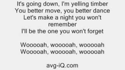 Timber by Pitbull ft. Ke$ha acoustic guitar instrumental cover with lyrics karaoke