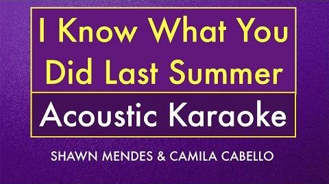 I Know What You Did Last Summer Karaoke Lyrics (Acoustic Guitar Instrumental)
