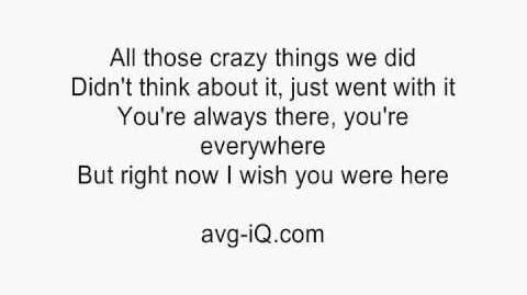 Wish You Were Here by Avril Lavigne acoustic guitar instrumental cover with lyrics