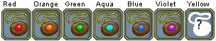 Colors wooden amulet