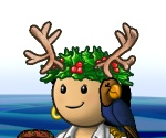 Portrait-clothing-female-hat-Antler wreath