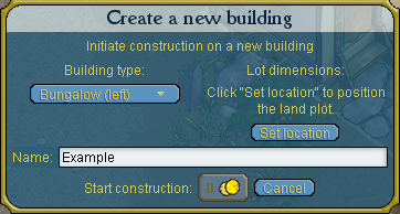 Building creation