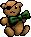 Trinket-Holiday teddy