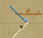 Shipwreck treasure icon