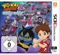 Youkai Watch 2 Shinuichi 3DS Cover