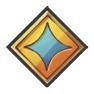 Glänzendes Emblem