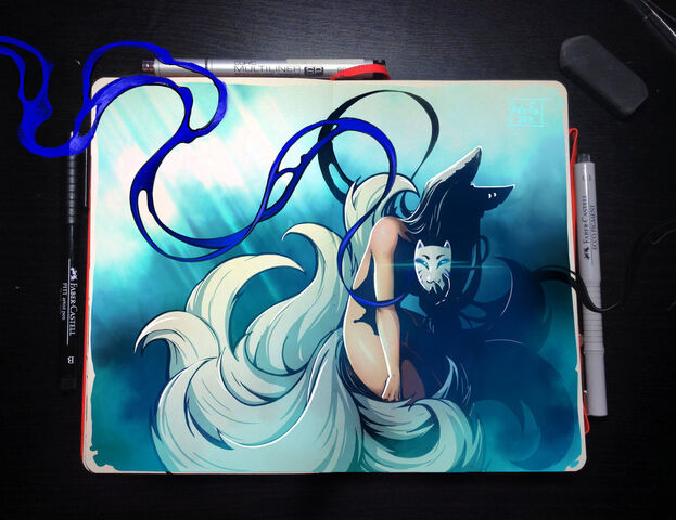 File:Moleskine ninetailed by kate fox-d7jpuh4.jpg