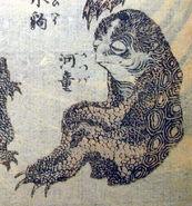 560px-Hokusai kappa