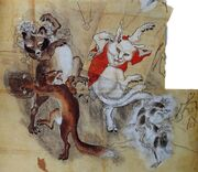 Kawanabe-kyosai-tanuki-rabbit