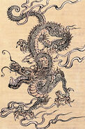 Japanese dragon, Chinese school, 19th Century