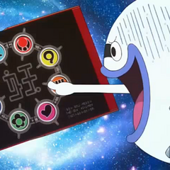 One of the Yo-kai Medallium's sealed pages.