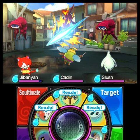 Screenshot of the battle system.