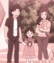 Young Natsume and her family