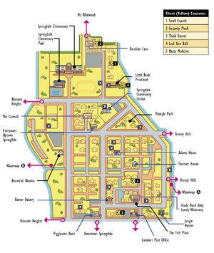 Uptown Springdale Map