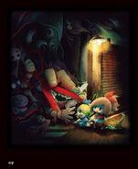 Yomawari Midnight Shadows Art 2