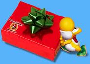 Yoshi-pushing-present