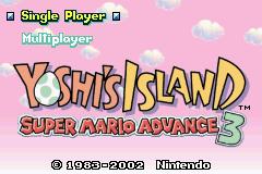 Title Screen - International - Super Mario Advance 3