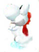 White Yoshi looks up