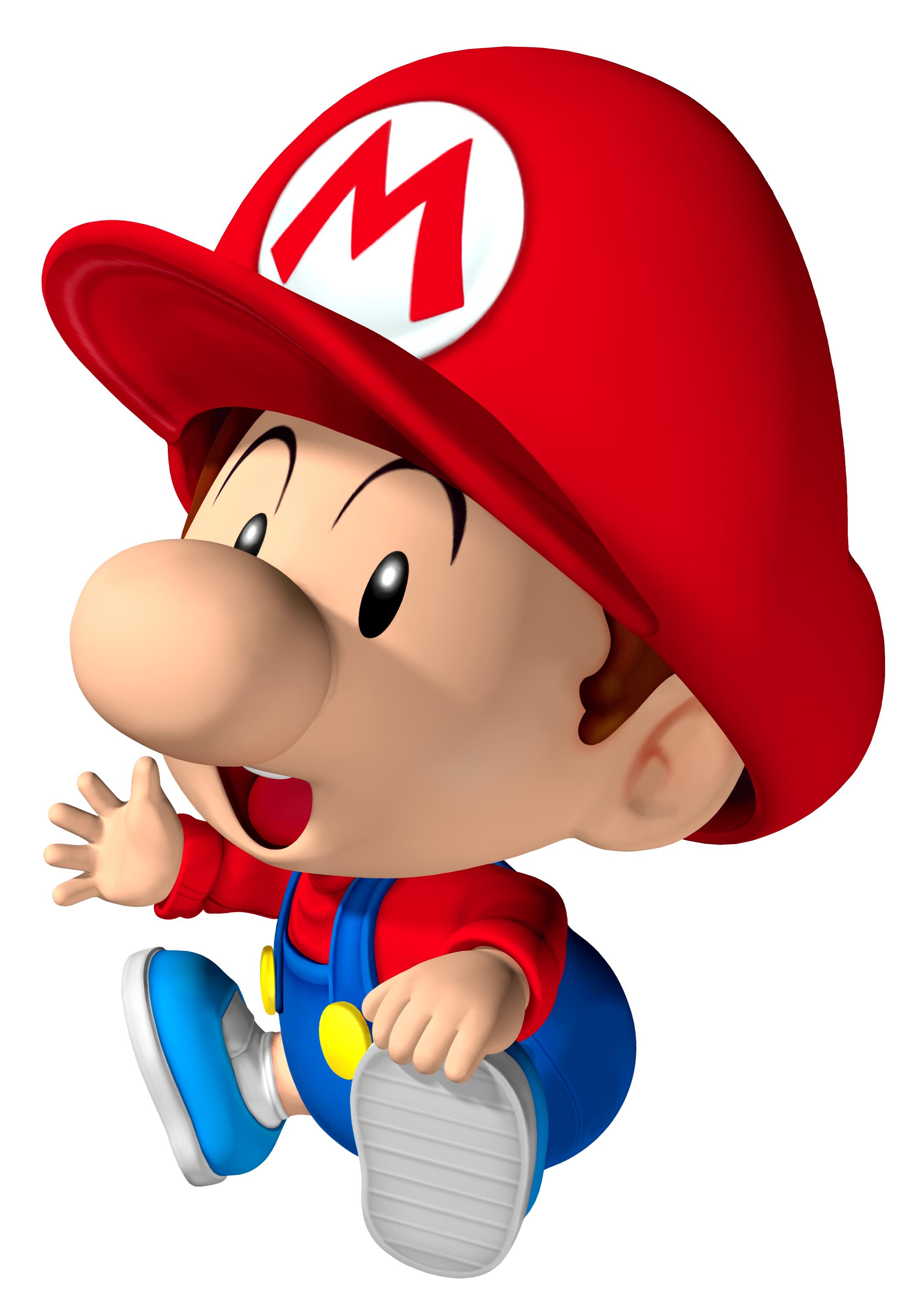 sitting baby mariopng - Bebe Mario