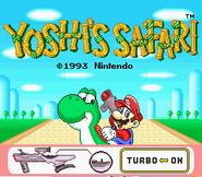 Title Screen - Yoshi's Safari