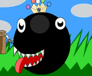 Chain Chomp with Crown Background