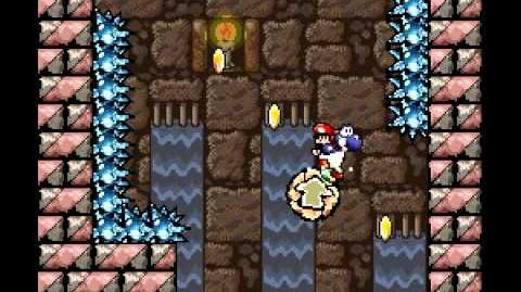 Yoshi's Island 2-8 arrow teleport in real time