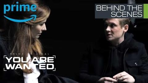 You Are Wanted Staffel 2 Behind the Scenes Katrin Bauerfeind beim Dreh einer emotionalen Szene