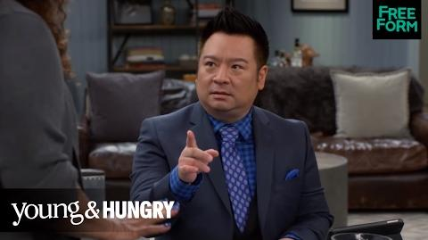 Young & Hungry Season 5, Episode 1 Yolanda and Elliot Practice Denial Freeform