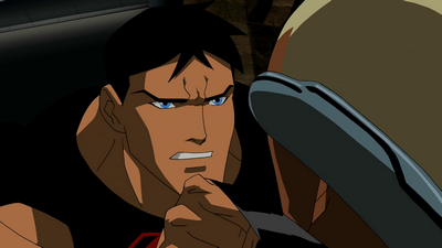 File:Superboy lashes out.png