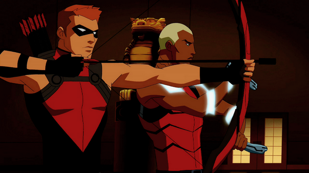File:Red Arrow and Aqualad team up.png