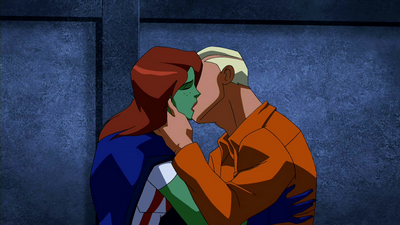 File:Superboy and Miss Martian kiss.png