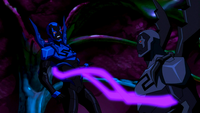 Black Beetle ensnares Blue