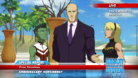 Lex Luthor defames the Outsiders