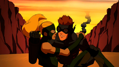 File:Kid Flash and Artemis escape.png