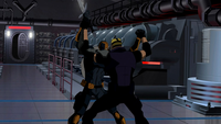 Deathstroke fights Sportsmaster