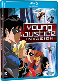 Young Justice Invasion Blu-ray cover