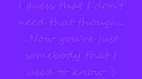 Somebody That I Used To Know - Gotye feat. Kimbra (Lyrics On Screen)
