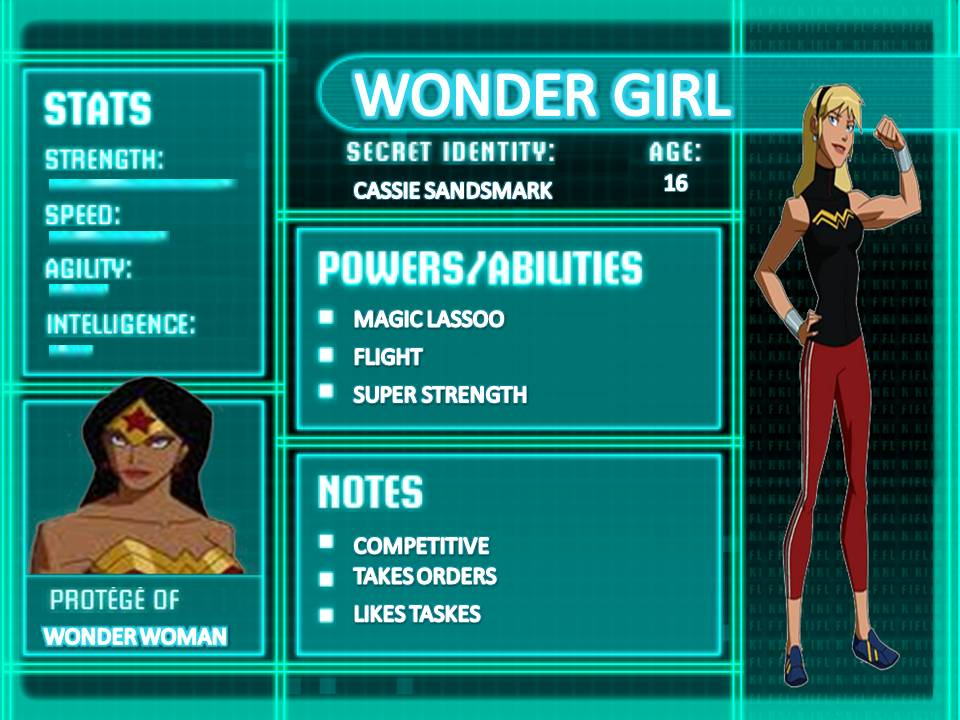 Wonder Girl Young Justice Stats Wiki FANDOM powered byYoung Justice Season 3 Character Bios