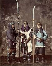 Samurai with naginata