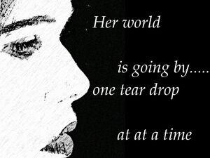 Tear-drops-her-world