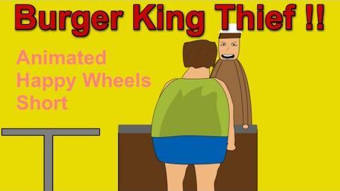 Burger King Thief !!- Animated Happy Wheels Short-1