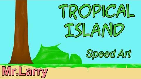 Tropical Island Part 1 Happy Wheels Speed Art Ep. 17