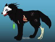 Zombie wolf omega