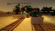 Stupid Steve and Herobrine chase 1
