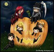 Halloween shinigami wallpaper