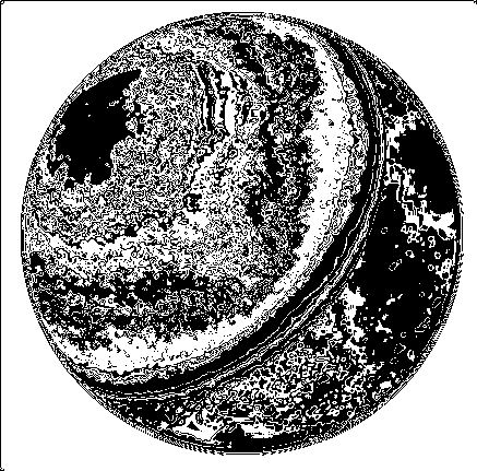 Planet Even Less Blurry Topographic Map