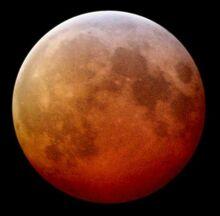 Lunar eclipse low