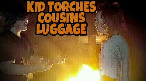 KID TORCHES COUSIN'S LUGGAGE OVER VACATION DISPUTE!!!