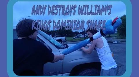 ANDY DESTROYS WILLIAM'S KING DOMINOS SNAKE